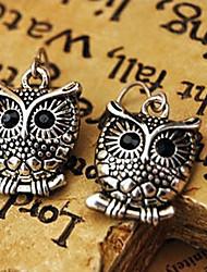 Women's Vintage Bronze Owl Earrings