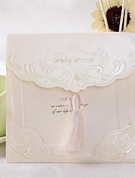 Vintage Wedding Invitation With Tassel (Set of 50)