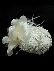Women's Satin/Feather/Rhinestone/Lace/Imitation Pearl Headpiece - Special Occasion Fascinators 1 Piece