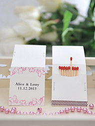 Wedding Décor Personalized Matchbooks - Hearts (Set of 25)
