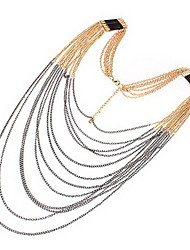Lovely Alloy with Strands Necklace