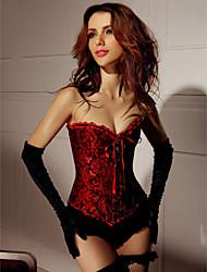 Satin Polyester Geisha Goddess Burlesque Corset Sexy Lingerie Shaper