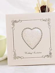 Classic Heart Design Square Wedding Invitation (Set of 50)