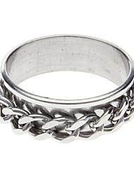 Dupla cadeia de anel de aço inoxidável