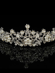Women's Rhinestone Alloy Imitation Pearl Headpiece-Wedding Tiaras