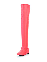Amazing Leatherette Flat Heel Over The Knee Boots Casual Shoes(More Colors)