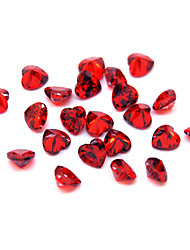 10PCS Nail Art Zircon Rhinestones 4mm Peach Heart Shaped Decoration(Assorted Colors)