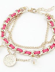 Coin Pendant Braided Bracelet