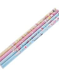 4 Pack Love Story crayon en bois (couleur aléatoire)