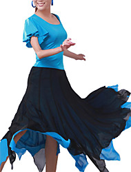 Latin Dance Skirts Women's Training Chiffon Natural