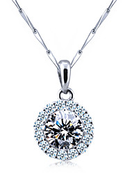 Women's Silver/Cubic Zirconia Necklace Anniversary/Gift/Daily/Causal