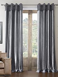 (Zwei Platten) Baumwolle neoklassischen Polyester Mischung Energiesparvorhang