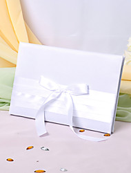 Guest Book Satin Classic ThemeWithRibbons Bow