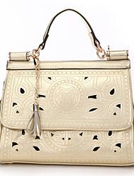 Freyja Cut Out Leather Messenger Bag