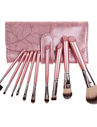 10 Makeup Brushes Set Synthetic Hair / Nylon Face / Eye / Lip