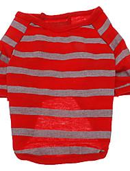 Hunde T-shirt Rot Hundekleidung Sommer Streifen