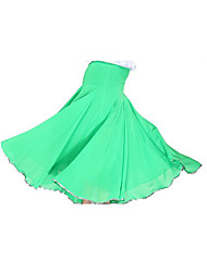 Ballroom Dance Skirts Women's Training Tulle Knit 1 Piece Natural