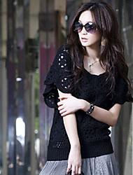 Donna Crochet Cutwork cappuccio Tops