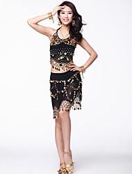 Tulle dancewear com moedas barriga Outfits Dança para Senhoras (mais cores)