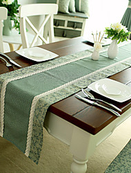 American Country Style Ciano Controllare Poly / Cotton Table Runners