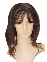 "Lace Front 100% Indian Human Hair 16"" Body Wave Hair Wigs"