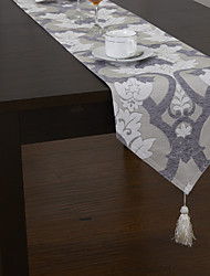 Traditional Chenille Jacquard Floral Table Runners