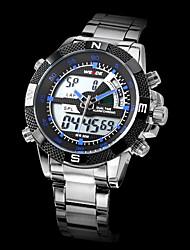 WEIDE Мужской Спортивные часы Наручные часы LCD Календарь Секундомер Защита от влаги С двумя часовыми поясами тревогаКварцевый Японский