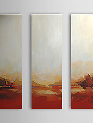 Hand Painted Oil Painting Landscape with Stretched Frame Set of 3 1307-LS0378