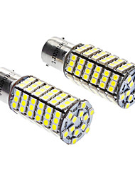 1156/BA15S 7W 6000-6500K 480LM 120x3528SMD LED White Light Bulb (DC 12V, 1-Pair)