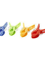 4 Pack Colorful Plastic Clothes Hanging Clip