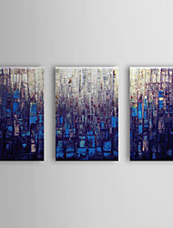 Hand Painted Oil Painting Abstract Set of 3 1307-AB0459