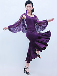 Ballroom Dance Outfits Women's Training Lace / Viscose Ruffles Natural