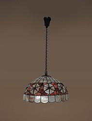 120W artistique Tiffany lumière pendante avec Colorful Nature Matériel de Shell Shade intégré