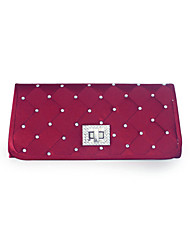 Colormoon Soft Check Diamond Clutch Bag