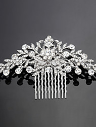 Elegant Alloy Hair Combs with Rhinestone Wedding Bridal Headpieces