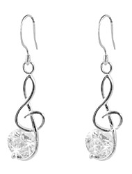 Classic Platinum Plated Irregular Cubic Zirconia Earrings