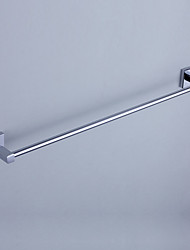 Contemporary Chrome Finish Brass Single Towel Bar