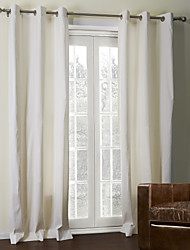 TWOPAGES® Two Panels  Off-White Solid Coating Thermal Curtain