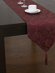 Red Polyester Rectangular Table Runners
