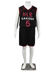 Le basket-ball qui joue Kuroko Daiki Aomine trop Gakuen équipe de basket NO.5 Tenue de club sportif