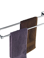"Towel Bar Chrome Wall Mounted 600 x 120mm (23.6 x 4.7"") Brass Contemporary"
