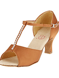 Satin T-Strap Latin / Ballroom Women's Dance Shoes