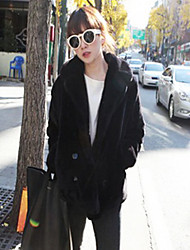 Long Sleeve Shawl Faux Fur Casual/Party Jacket