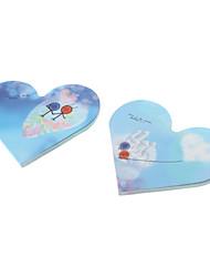 Heart Shaped Bloc-notes de papier coloré (couleur aléatoire)