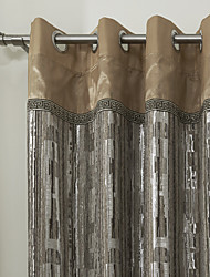 Jacquard Luxurious Energy Saving Lined Curtain (Two Panels)