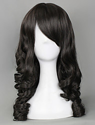 Lolita Wigs Classic/Traditional Lolita Lolita Medium / Curly Black Lolita Wig 55 CM Cosplay Wigs Solid Wig For Women