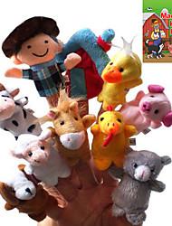 10шт Детский стишок Плюшевые Finger Puppets Дети говорят Prop (Макдональд имел ферму)