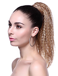 High Quality Synthetic Long Curly Brown Fluffy Ponytail