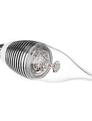 voar e14 3w 240lm 3500k branco quente lâmpada LED Candle (110-220v)