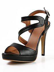 Moda de cuero sandalias de tacón de aguja con hebilla de fiesta \ Zapatos casuales (más colores)